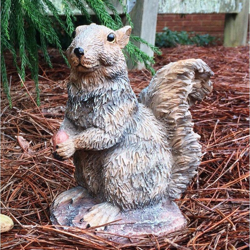 Weathered Paint Scheme for Vintage Feel Squirrel Rain Gauge Rain Gauge Included