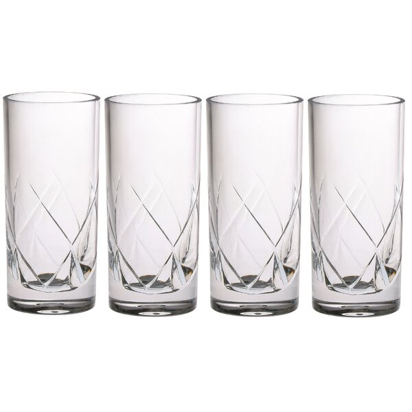 French 6 oz. Acrylic Collins Glass (Set of 4) by Chenco Inc.