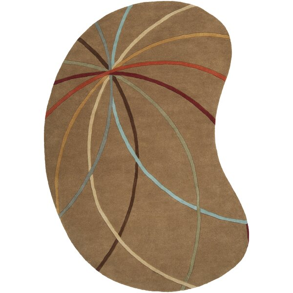 Dewald Mocha Area Rug by Ebern Designs