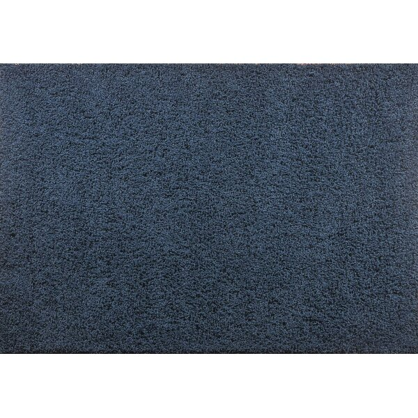 Aadhya Plush Navy Area Rug by Winston Porter