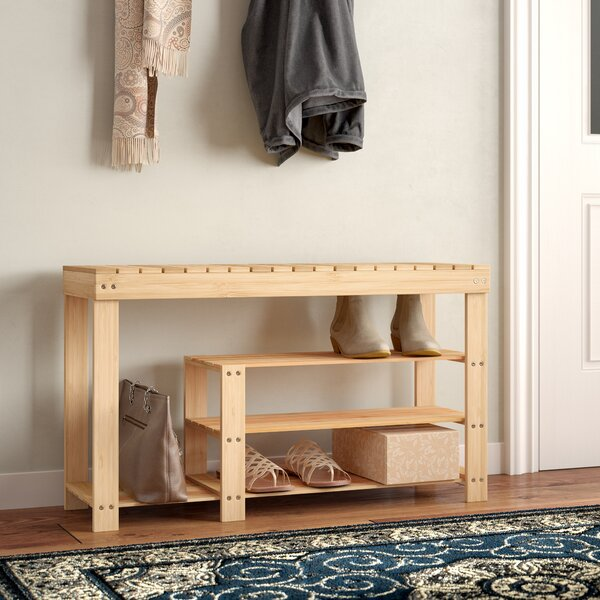 3-Tier Bamboo 10 Pair Shoe Rack By Rebrilliant Cheap
