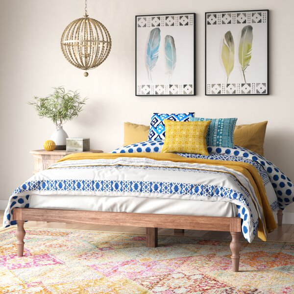 Henson Queen Solid Wood Platform Bed by Bungalow Rose Bungalow Rose