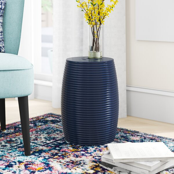Bunderberg Ribbed Porcelain Garden Stool by Zipcode Design