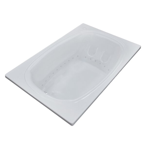 St. Lucia 71.5 x 47.63 Rectangular Air Jetted Bathtub with Drain by Spa Escapes