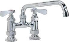 Commercial Double Handle Standard Kitchen Faucet with Spout by Premier Faucet