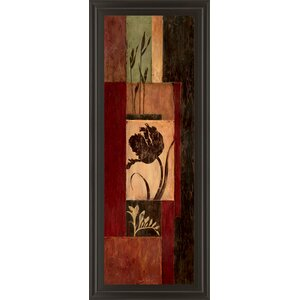 Tulip Shadow by Maria Donovan Framed Painting Print by Classy Art Wholesalers
