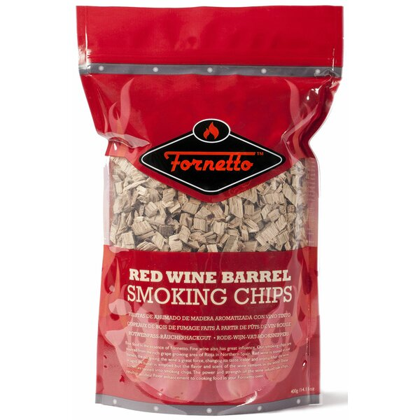 Red Wine 14 oz. Smoking Wood Chips by Fornetto