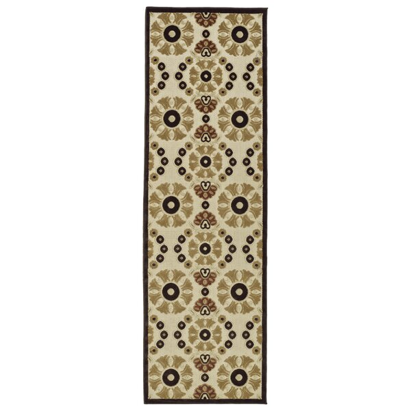 Mumtaz Machine Woven Khaki Indoor/Outdoor Area Rug by World Menagerie