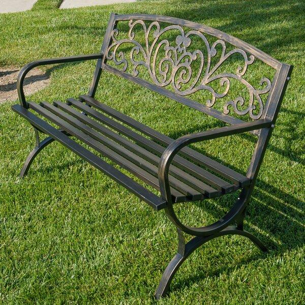 Metal Garden Bench by Belleze