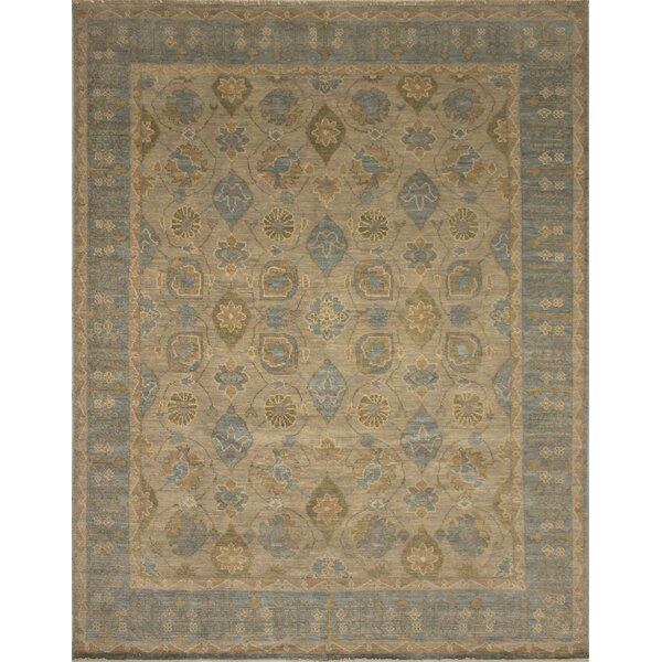 One-of-a-Kind Rothley Fine Oushak Victor Hand-Knotted Grey Area Rug by Canora Grey