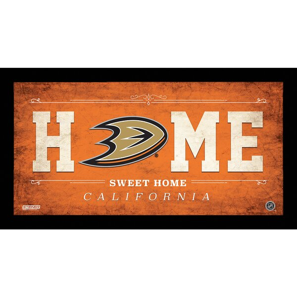 Home Sweet Home Sign Framed Textual Art by Steiner Sports