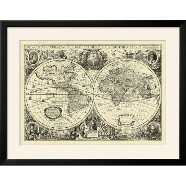 Charlton home vintage world map framed graphic art print wayfair gumiabroncs Gallery