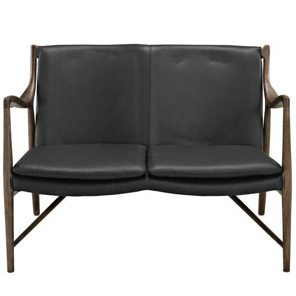 Makeshift Leather Loveseat by Modway