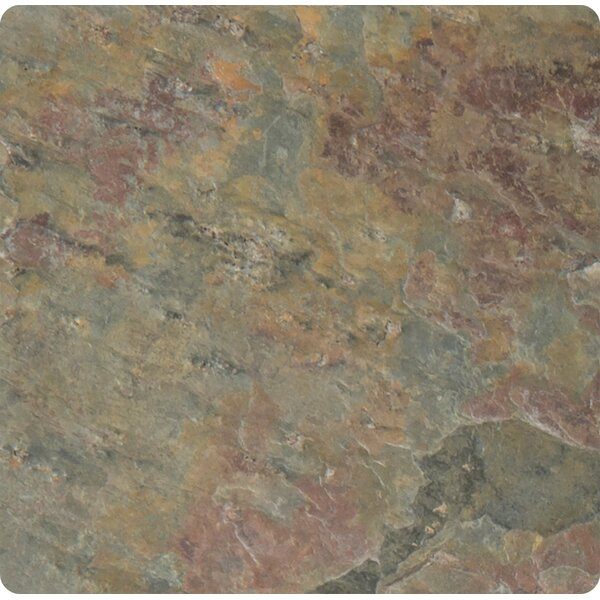 Classic 4'' x 4'' Slate Field Tile in Multi by MSI