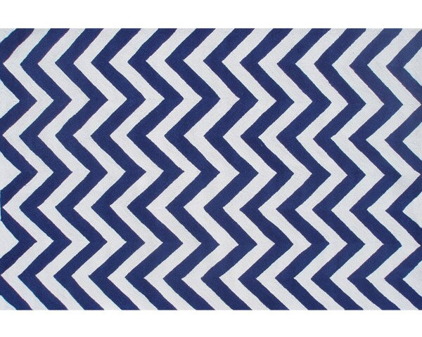 Handmade Blue Outdoor Area Rug by The Conestoga Trading Co.
