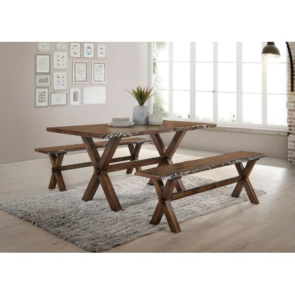 Ostrander Solid Wood Dining Table by Loon Peak