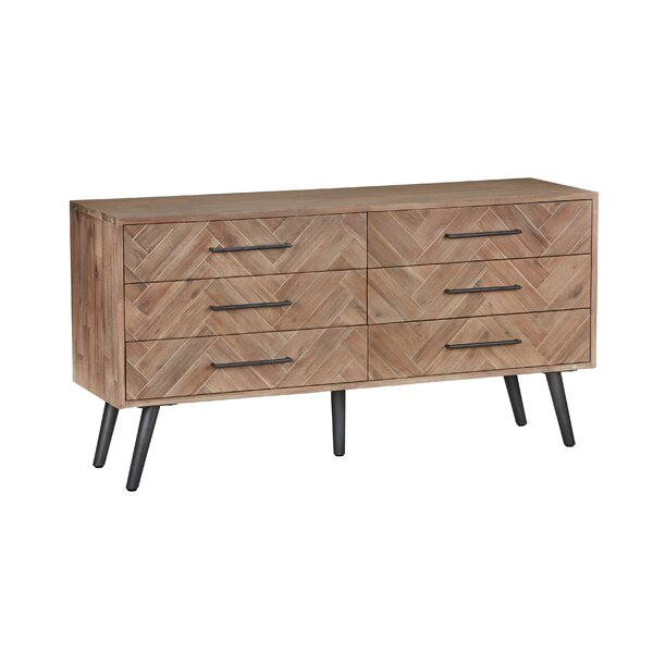 Lexy 6 Drawer Double Dresser by Modern Rustic Interiors