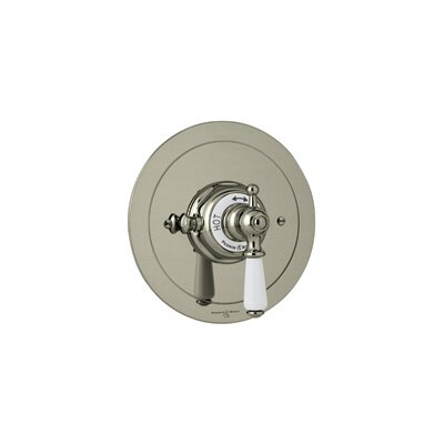 Perrin & Rowe® Edwardian Era Round Thermostatic Trim Plate by Rohl