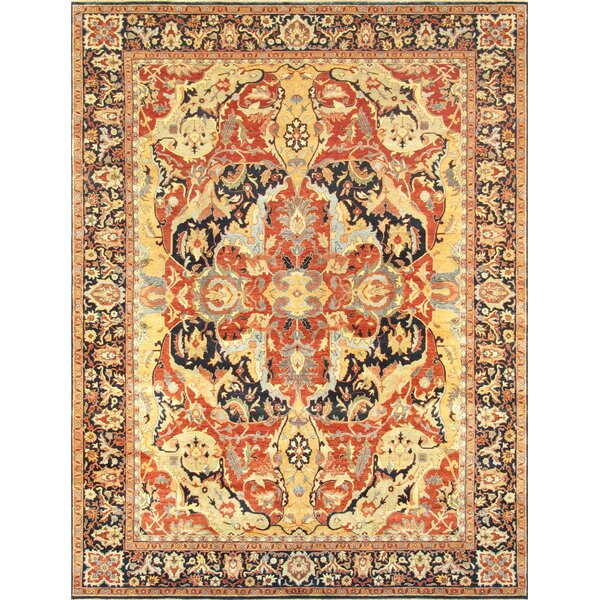 Bidjar Hand-Knotted Wool Rust Area Rug by Pasargad