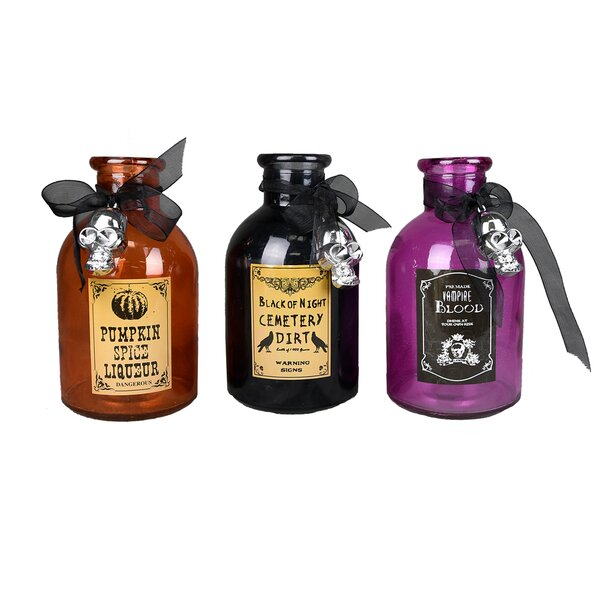 Witch Ingredient 3 Piece Decorative Bottle Set (Set of 6) by The Holiday Aisle