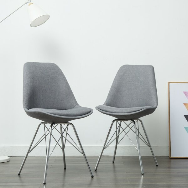 Dunkerton Upholstered Dining Chair (Set of 2) by Wrought Studio