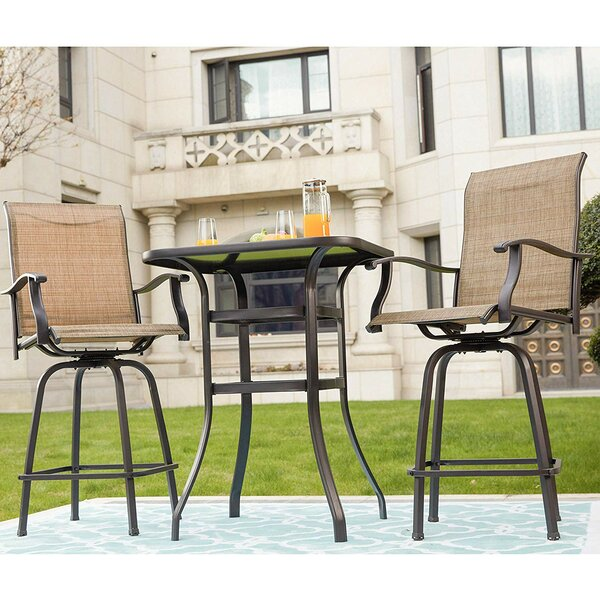 Laskowski Outdoor 3 Piece Bistro Set By Bayou Breeze
