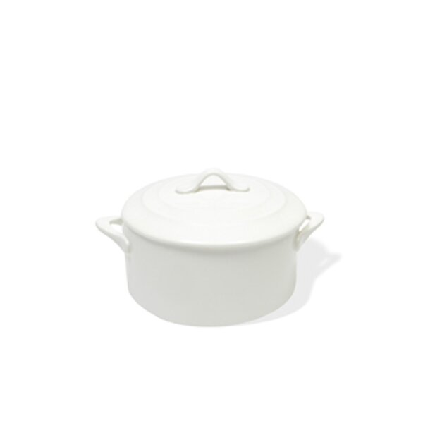 White Basics Round Casserole (Set of 6) by Maxwell & Williams