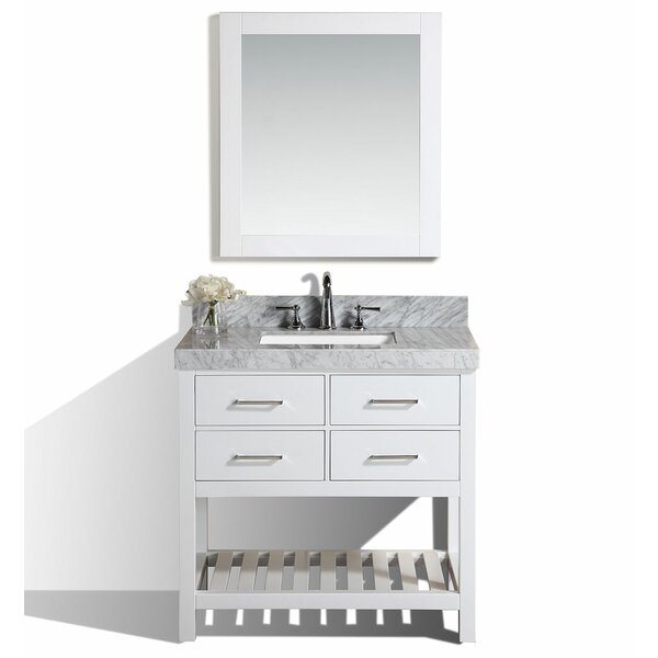 Laguna 41 Single Modern Bathroom Vanity with Mirror by Pacific Collection