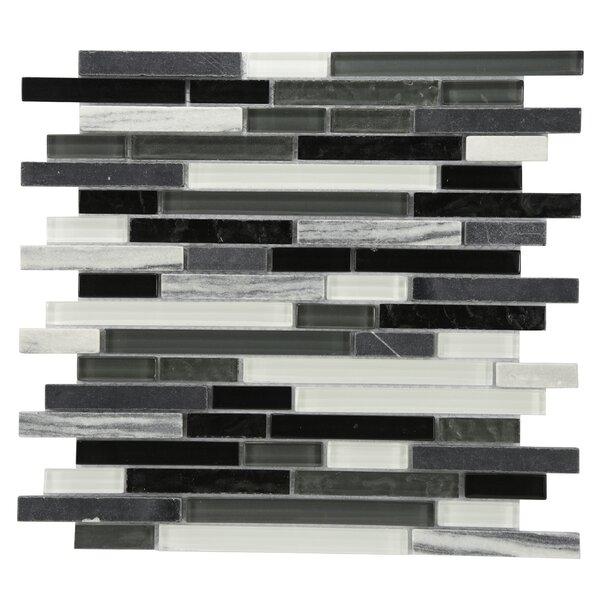 Modern Sleek Mixed Tile in Black/Gray/White by Byzantin Mosaic