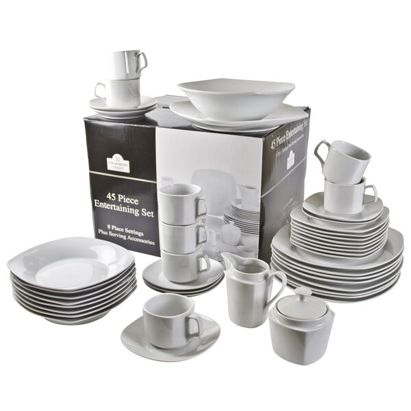 Filomena 45 Piece Dinnerware Set by Mint Pantry