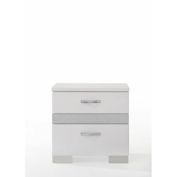 Lauer 2 Drawer Nightstand by Everly Quinn Everly Quinn