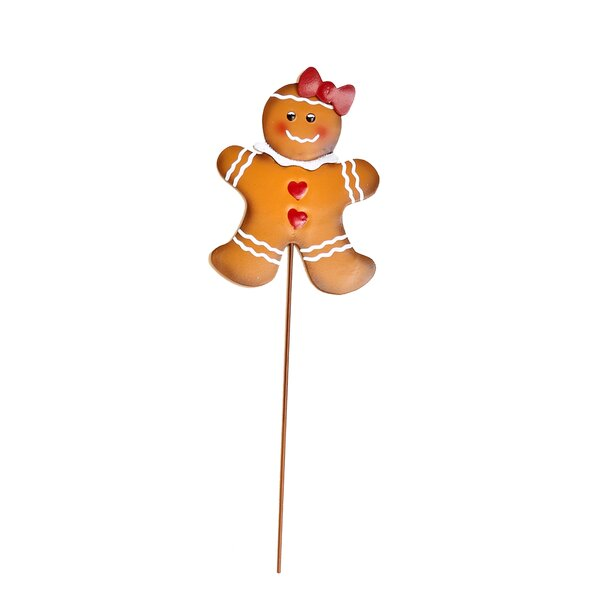 Metal Christmas Gingerbread Man on Stake by Worth Imports