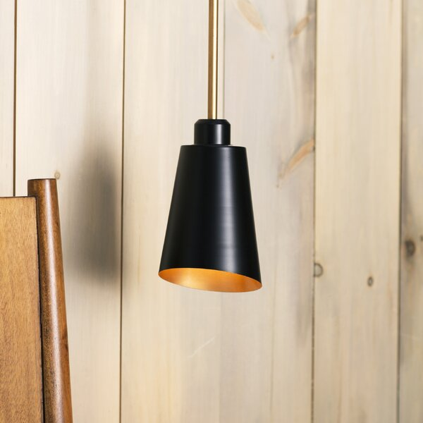 Valmonte 1-Light Cone Pendant by Langley Street