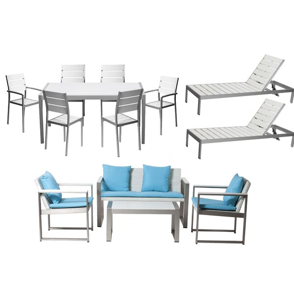 Carrell 13 Piece Conversation Set with Cushion by Orren Ellis