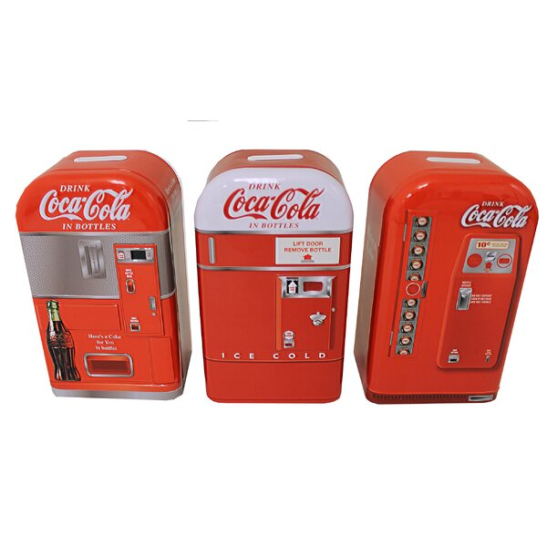 Coca-Cola Replica 3 Piece Piggy Bank Set by Tin Box Company