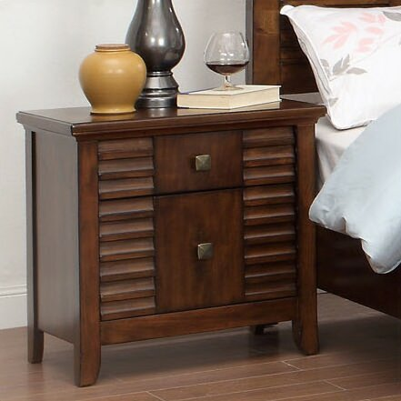 Tora 2 Drawer Nightstand by Hokku Designs
