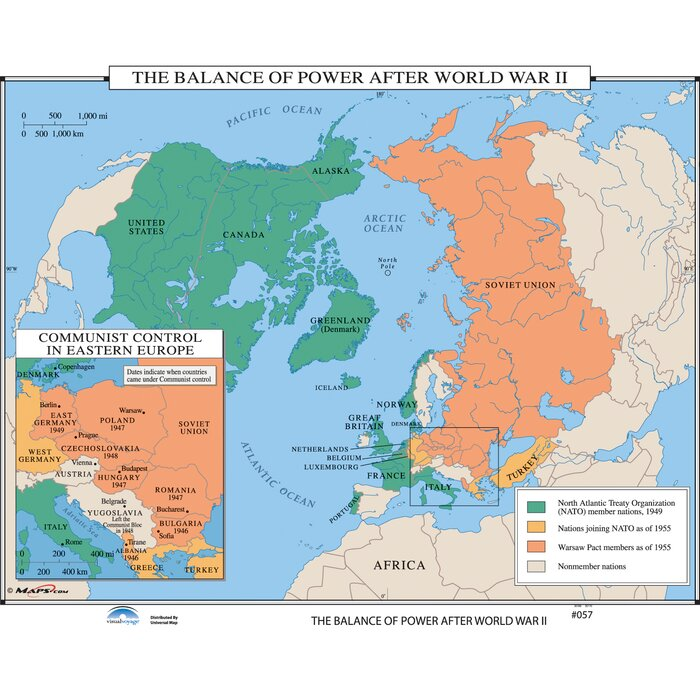 Universal map us history wall maps balance of power after wwii us history wall maps balance of power after wwii gumiabroncs Image collections