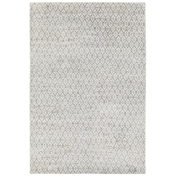 Denwood Hand-Knotted Gray/Blue Area Rug by Bungalow Rose