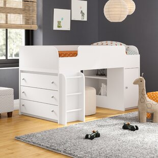 Shop For Amak Panel Bed with Ladder and Toy Box By Mack & Milo