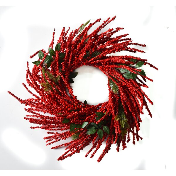 Berry Burst 28 Wreath by Darby Home Co