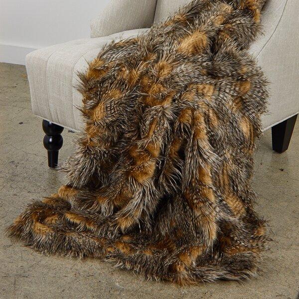 Reagan Porcupine Luxury Faux Fur Throw by Everly Quinn
