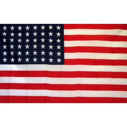 48 Stars USA Traditional Flag by NeoPlex