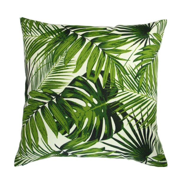 Lackey Botanic Palm Leave Indoor/Outdoor Pillow by Bayou Breeze