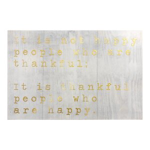 Happy People Gold Textual Art on Plaque by Wrought Studio