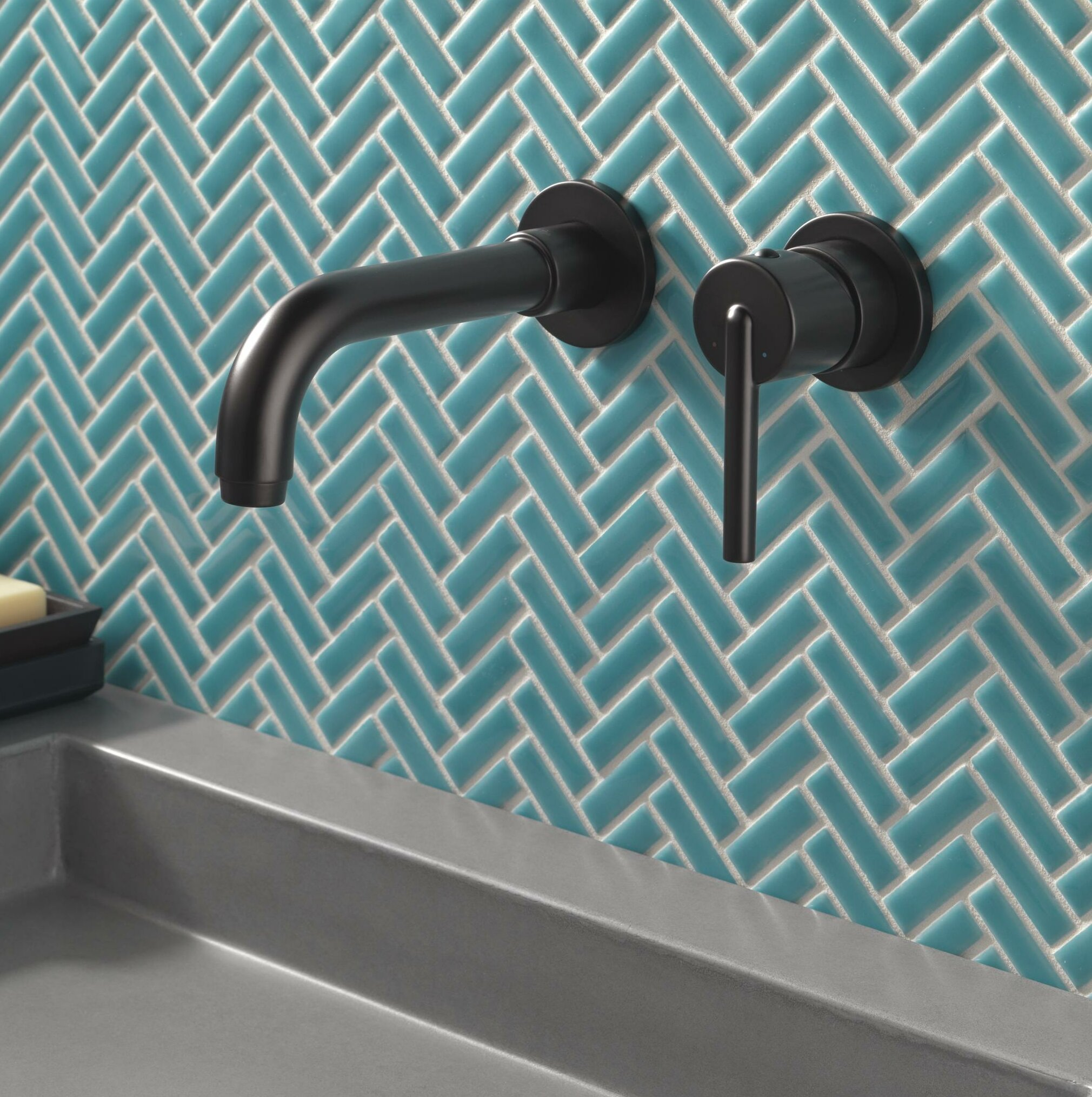 Picture of: T3559lf Wl Czwl Blwl Delta Trinsic Wall Mounted Bathroom Faucet Reviews Wayfair