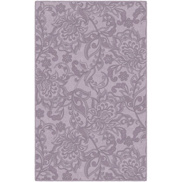 Lisbeth Traditional Jacobean Floral Purple Area Rug by Winston Porter
