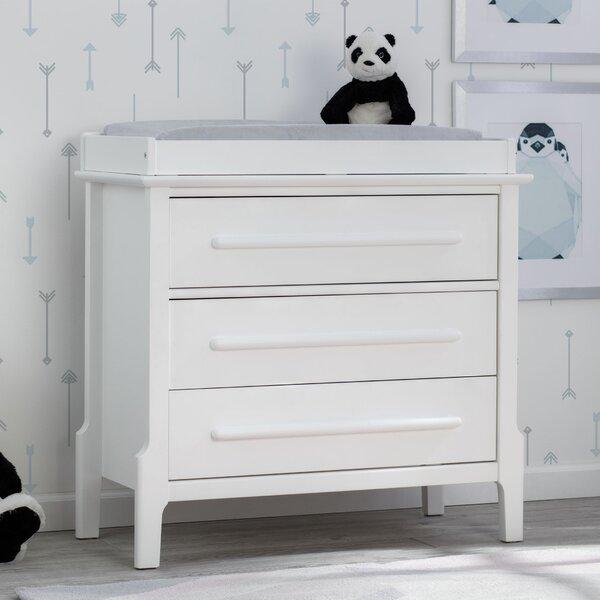 Mid-Century Modern Changing Dresser by Serta