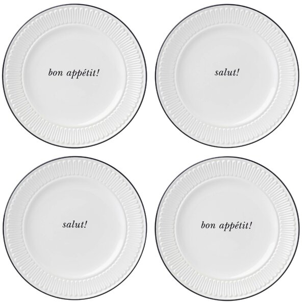 York Avenue Tidbit Plates, Set of 4 by kate spade new york
