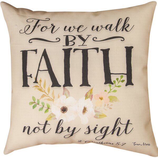 For We Walk Throw Pillow by Manual Woodworkers & Weavers