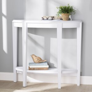 Blakeway Half Moon Console Table. Cappuccino Dark Taupe White